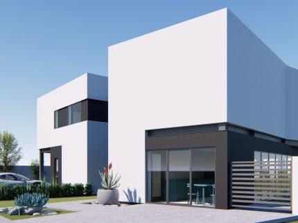 Duplex asimetric cu 2 apartamente / Structură metalică